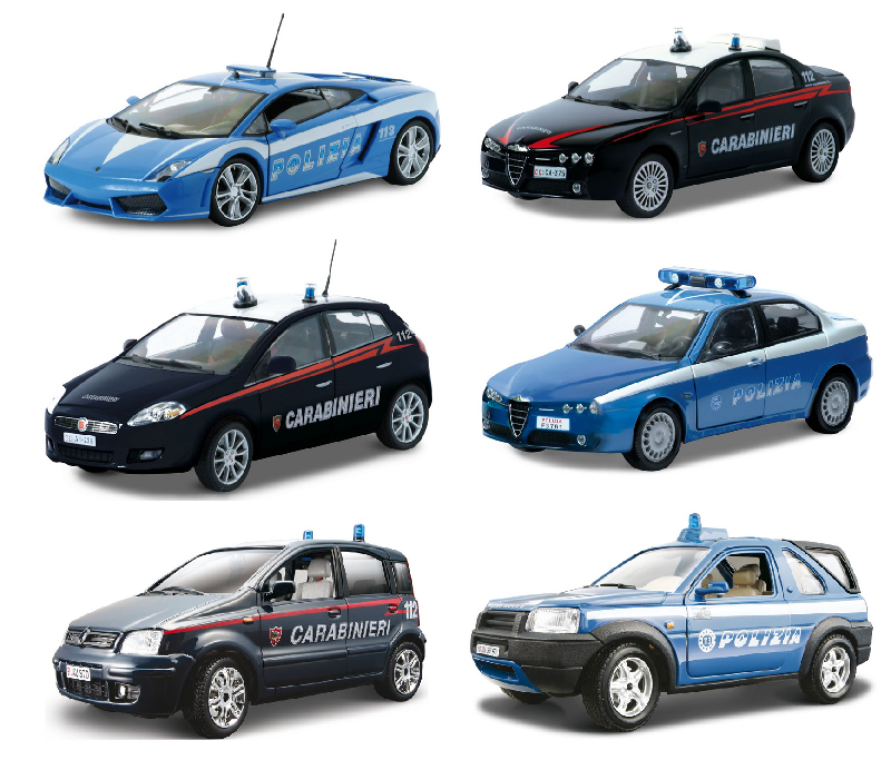 Auto Polizia Security Team Assortite Scala 1 24 Burago 24000